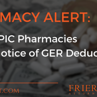 PHARMACY ALERT: PSAO EPIC Pharmacies Sends Notice of GER Deductions