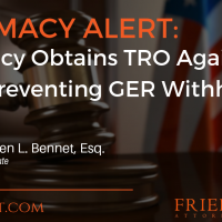 PHARMACY ALERT: Pharmacy Obtains TRO Against PSAO Preventing GER Withholding