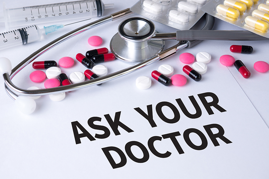 Drug and medical devices with ask your doctor written