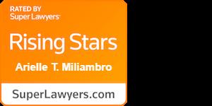 Arielle T. Miliambro Orange Super Lawyer badge